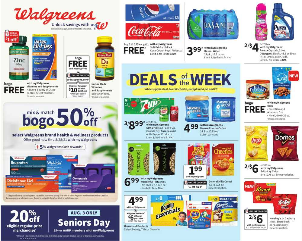 Walgreens - deals are valid from 08/01/21 to 08/07/21 - page 1.