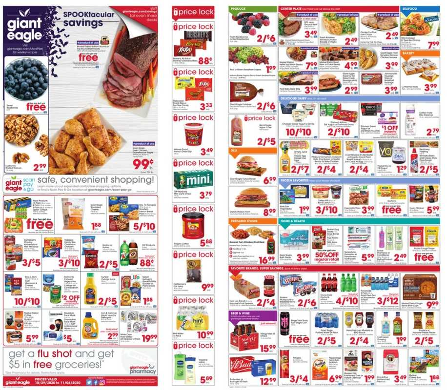 Giant Eagle - deals are valid from 10/29/20 to 11/04/20 - page 1.