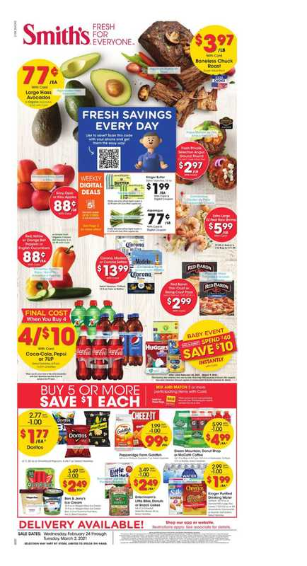 Smith's - deals are valid from 02/24/21 to 03/02/21 - page 1.