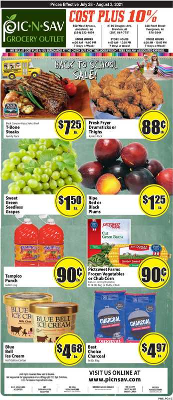 Pic N Sav - deals are valid from 07/28/21 to 08/03/21 - page 1.