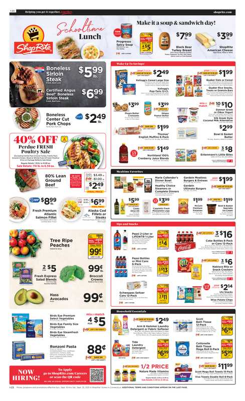 ShopRite - deals are valid from 09/19/21 to 09/25/21 - page 1.