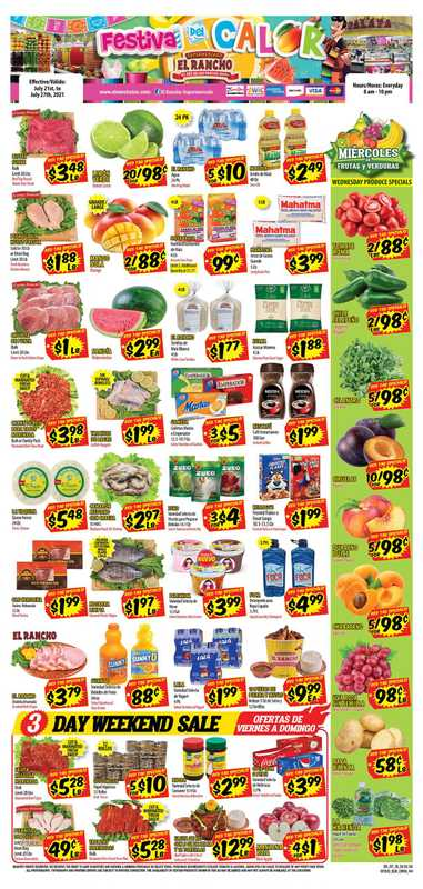 El Rancho Supermarket - deals are valid from 07/21/21 to 07/27/21 - page 1.