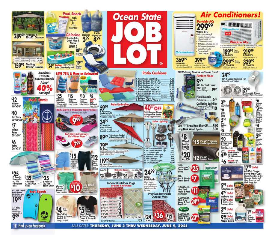 Ocean State Job Lot - deals are valid from 06/03/21 to 06/09/21 - page 1.