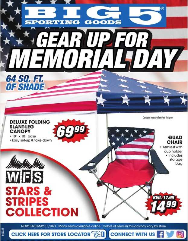 Big 5 Sporting Goods - deals are valid from 05/23/21 to 05/31/21 - page 1.