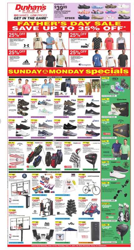 Dunham's Sports - deals are valid from 06/12/21 to 06/17/21 - page 1.