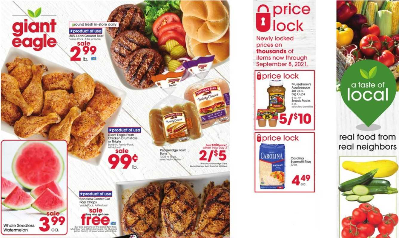 Giant Eagle - deals are valid from 07/29/21 to 08/04/21 - page 1.