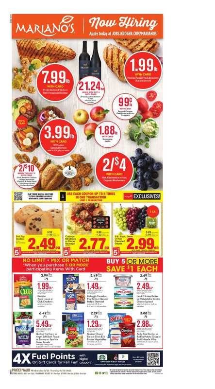 Mariano's - deals are valid from 09/15/21 to 09/21/21 - page 1.