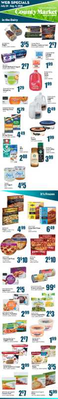 County Market - deals are valid from 07/29/20 to 08/04/20 - page 1.