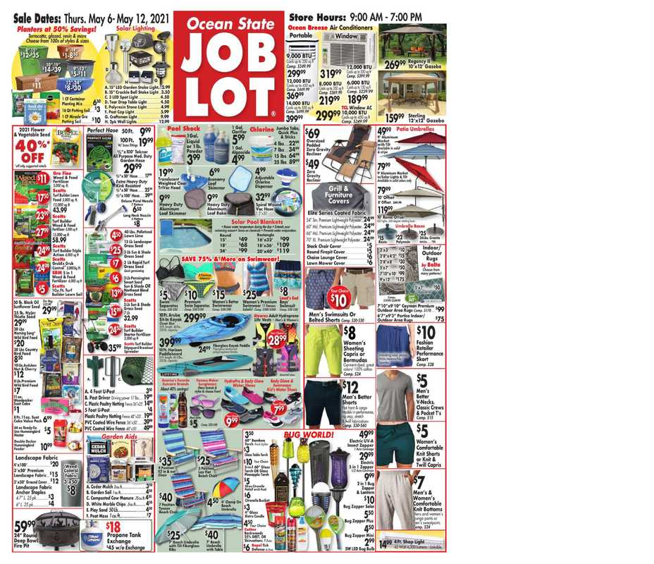 Ocean State Job Lot - deals are valid from 05/06/21 to 05/12/21 - page 1.