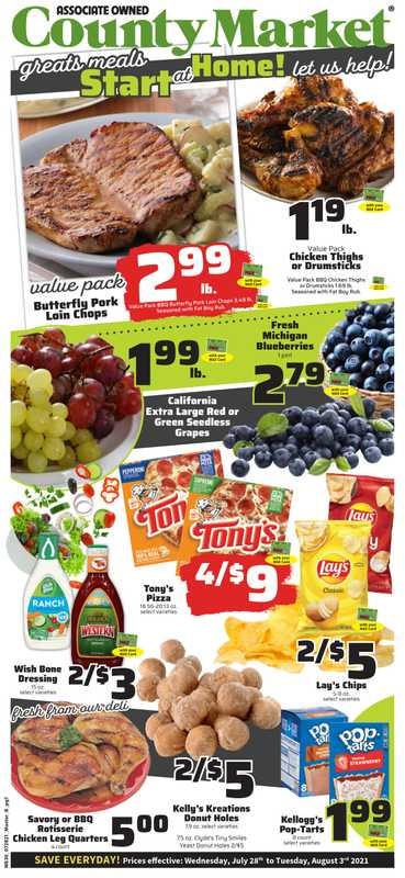 County Market - deals are valid from 07/28/21 to 08/03/21 - page 1.