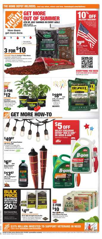 The Home Depot - deals are valid from 06/24/21 to 07/04/21 - page 1.
