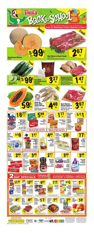 Fiesta Mart - deals are valid from 08/07/19 to 08/13/19 - page 1.