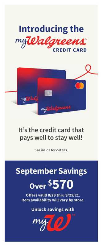 Walgreens - deals are valid from 08/29/21 to 09/25/21 - page 1.