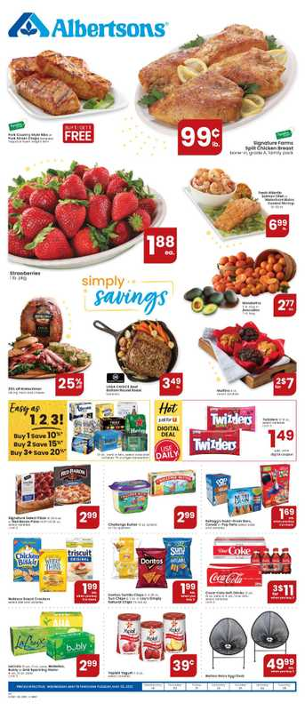 Albertsons - deals are valid from 05/19/21 to 05/25/21 - page 1.