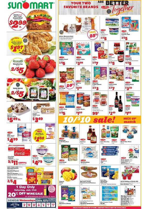 Sun Mart Foods - deals are valid from 07/27/21 to 08/02/21 - page 1.