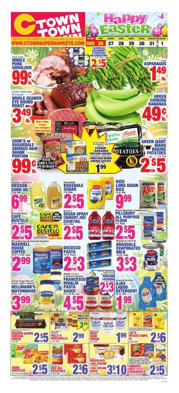 C-Town - deals are valid from 03/26/21 to 04/01/21 - page 1.