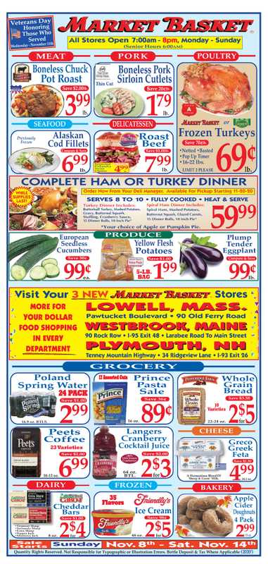 Market Basket - deals are valid from 11/08/20 to 11/14/20 - page 1.