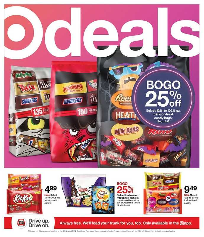 Target - deals are valid from 10/17/21 to 10/23/21 - page 1.