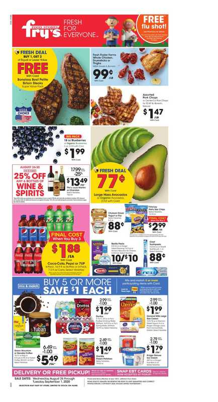 Fry's Food - deals are valid from 08/26/20 to 09/01/20 - page 1.