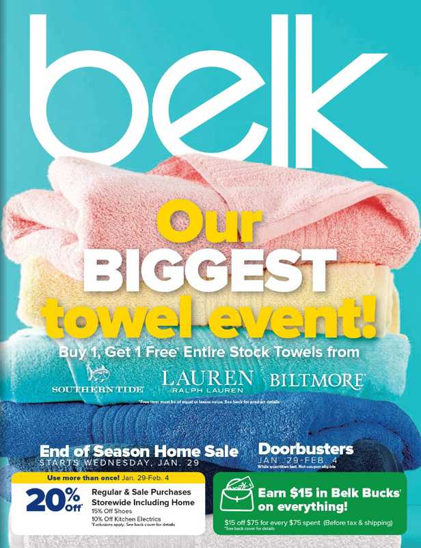 Belk - deals are valid from 01/29/20 to 02/04/20 - page 1.