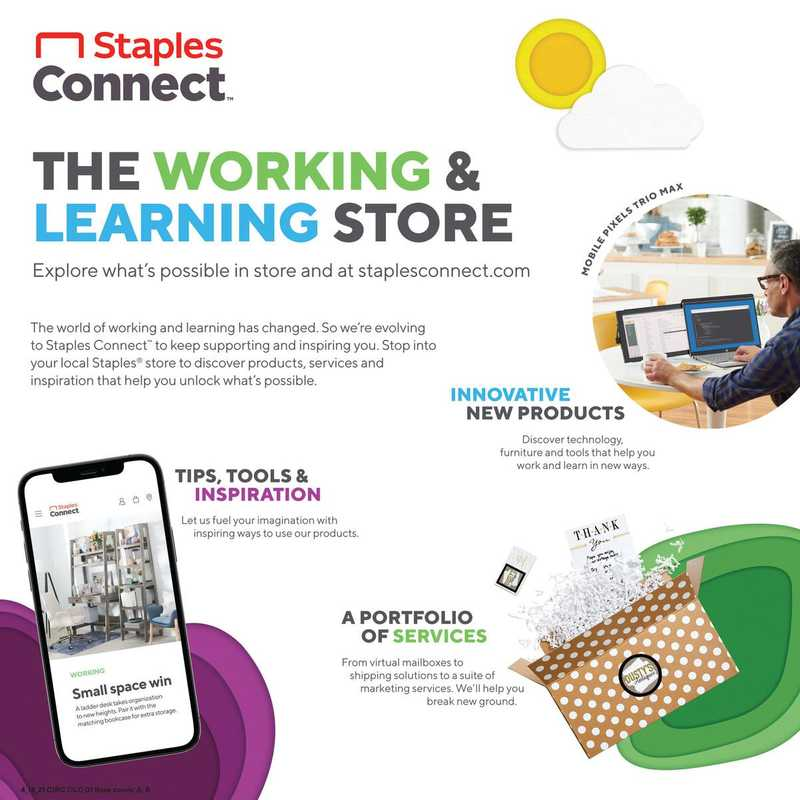 Staples - deals are valid from 04/18/21 to 04/24/21 - page 1.