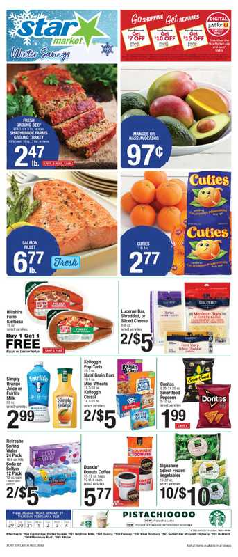 Star Market - deals are valid from 01/29/21 to 02/04/21 - page 1.