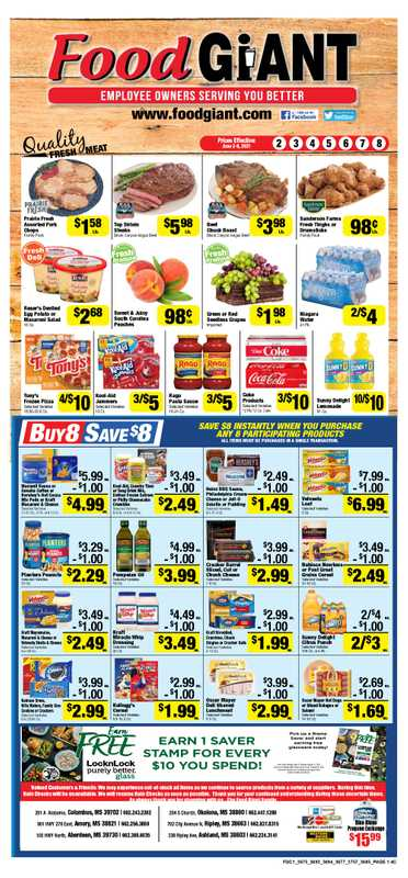 Food Giant - deals are valid from 06/02/21 to 06/08/21 - page 1.