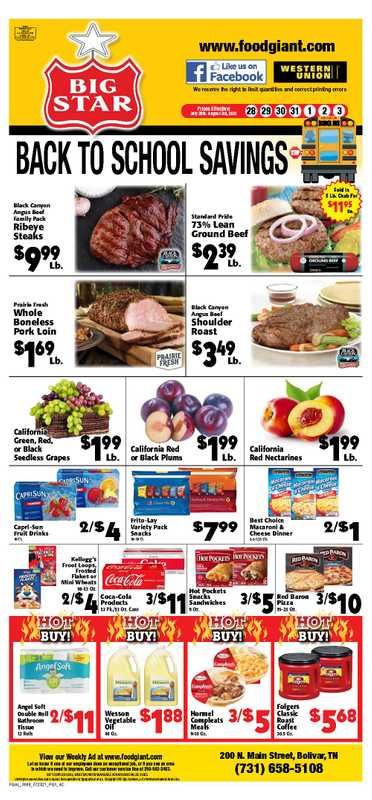 Big Star - deals are valid from 07/28/21 to 08/03/21 - page 1.