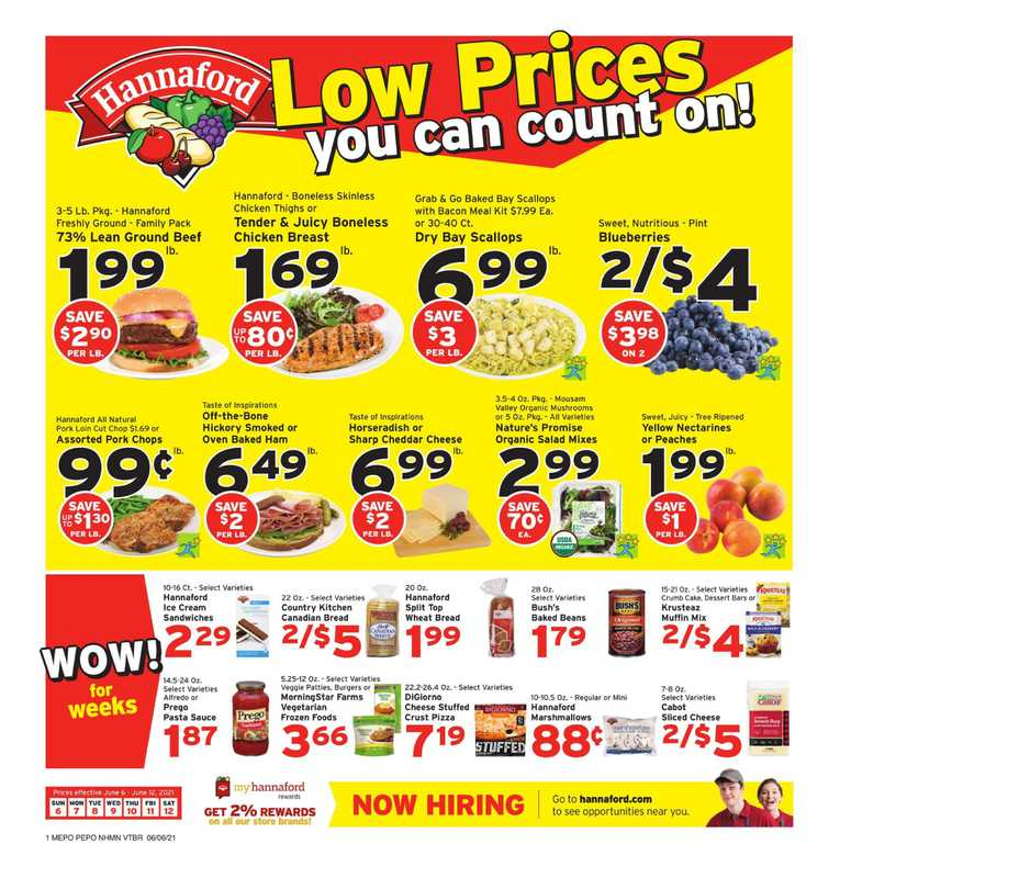 Hannaford - deals are valid from 06/06/21 to 06/12/21 - page 1.