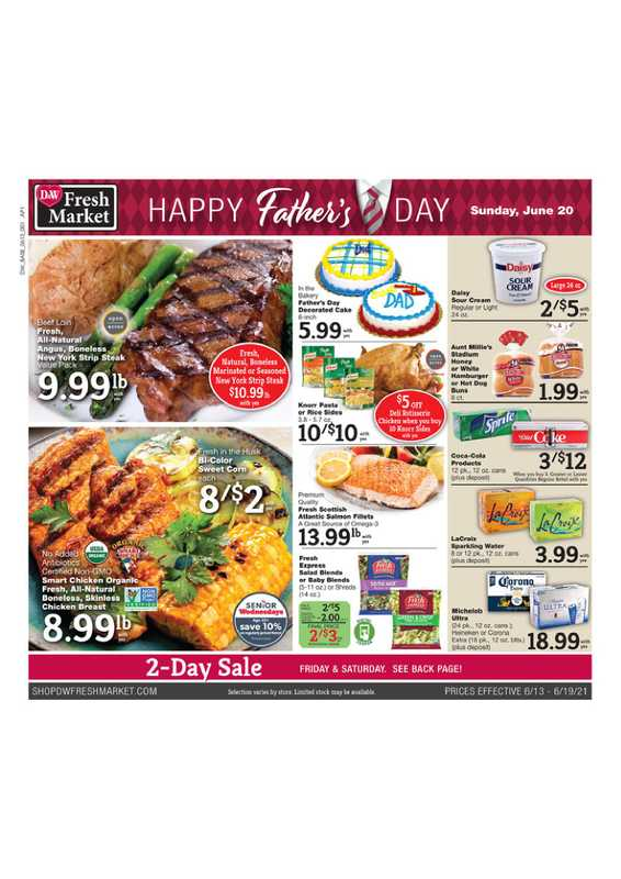 D&W Fresh Market - deals are valid from 06/13/21 to 06/19/21 - page 1.