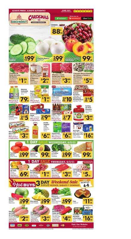 Los Altos Ranch Market - deals are valid from 06/02/21 to 06/08/21 - page 1.