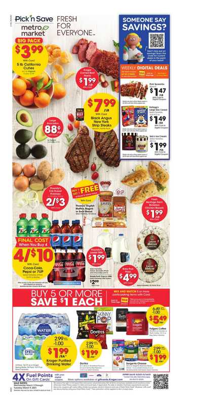 Metro Market - deals are valid from 03/03/21 to 03/09/21 - page 1.