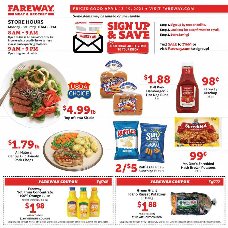 Fareway - deals are valid from 04/13/21 to 04/19/21 - page 1.