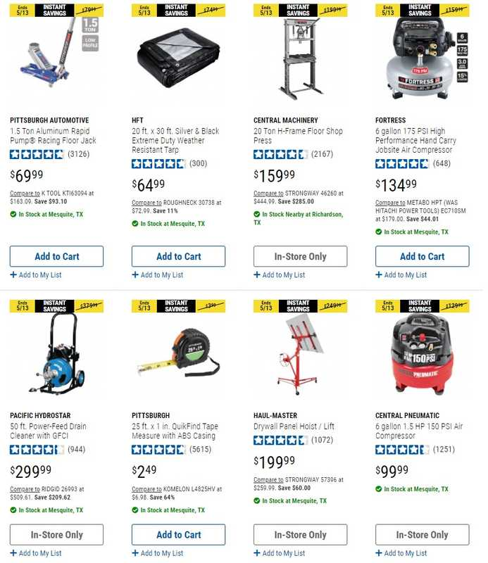 Harbor Freight Tools - deals are valid from 05/05/21 to 05/13/21 - page 1.