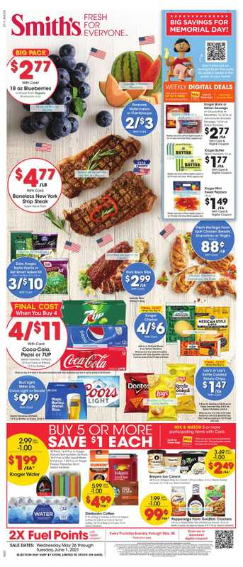 Smith's - deals are valid from 05/26/21 to 06/01/21 - page 1.