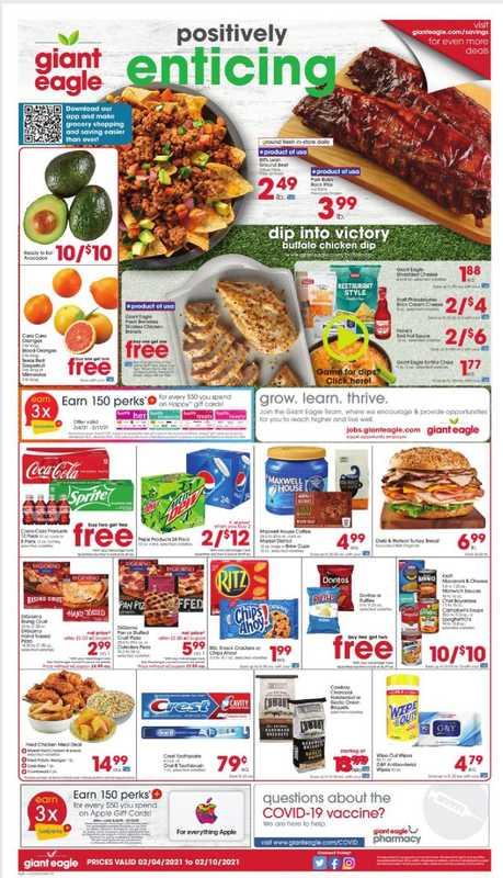 Giant Eagle - deals are valid from 02/04/21 to 02/10/21 - page 1.