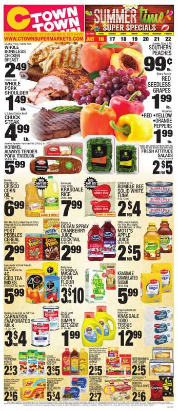 C-Town - deals are valid from 07/16/21 to 07/22/21 - page 1.