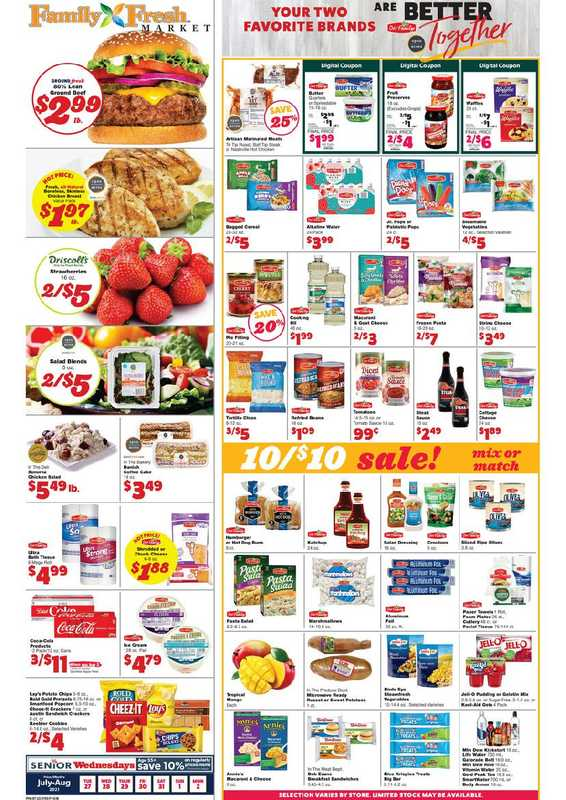 Family Fresh Market - deals are valid from 07/27/21 to 08/02/21 - page 1.