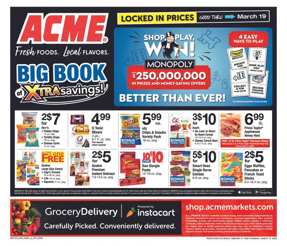 ACME - deals are valid from 02/21/20 to 03/19/20 - page 1.