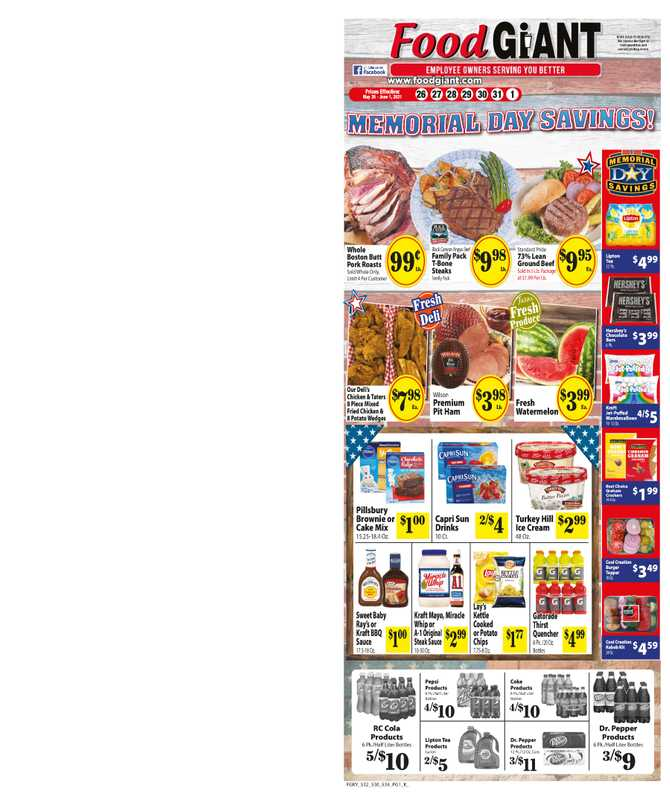 Food Giant - deals are valid from 05/26/21 to 06/01/21 - page 1.