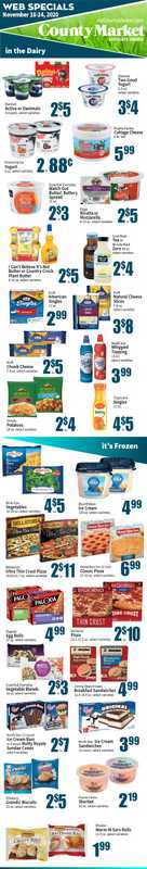 County Market - deals are valid from 11/18/20 to 11/24/20 - page 1.