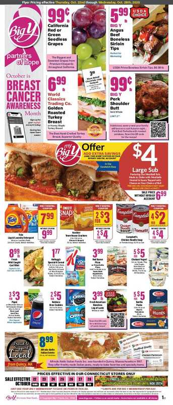 Big Y - deals are valid from 10/22/20 to 10/28/20 - page 1.