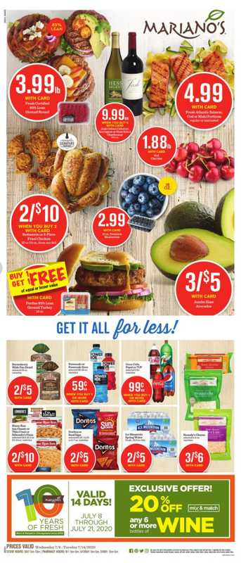 Mariano's - deals are valid from 07/08/20 to 07/14/20 - page 1.
