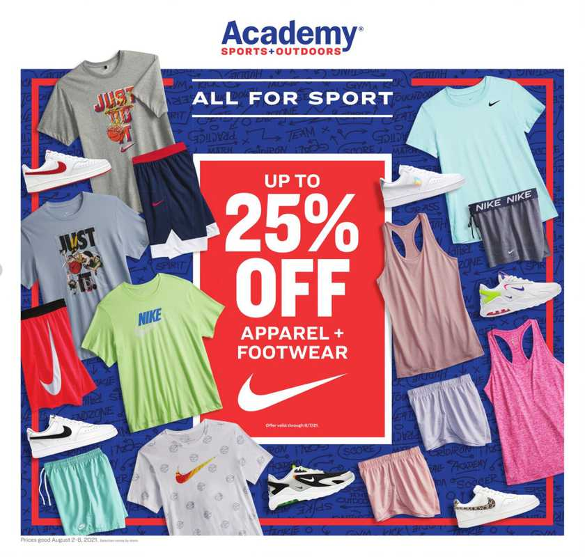 Academy Sports + Outdoors - deals are valid from 08/02/21 to 08/08/21 - page 1.