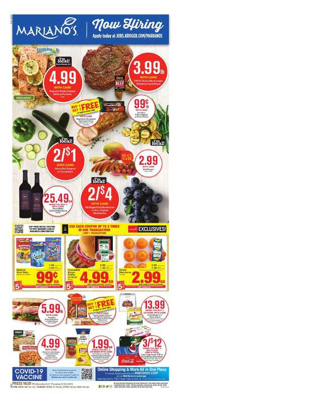 Mariano's - deals are valid from 08/04/21 to 08/10/21 - page 1.