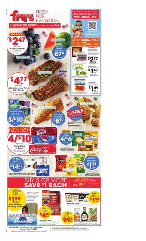 Fry's Food - deals are valid from 05/26/21 to 06/01/21 - page 1.