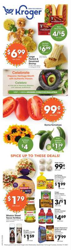 Kroger - deals are valid from 09/14/21 to 10/15/21 - page 1.