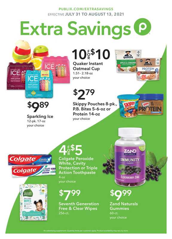 Publix - deals are valid from 07/31/21 to 08/21/21 - page 1.