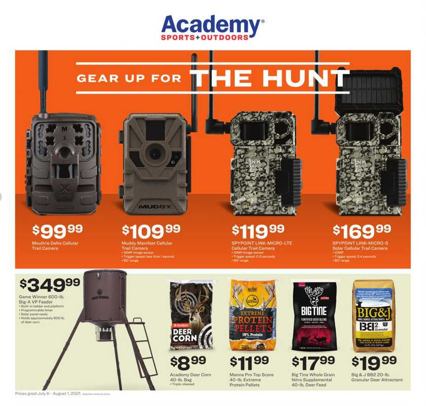 Academy Sports + Outdoors - deals are valid from 07/06/21 to 08/01/21 - page 1.