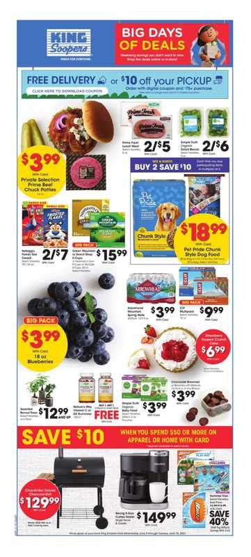 King Soopers - deals are valid from 06/09/21 to 06/15/21 - page 1.